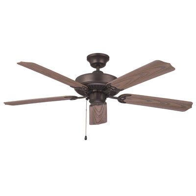 52 Southerland 5-Blade Ceiling Fan Finish: Aged Bronze with Weathered Oak ABS Blades