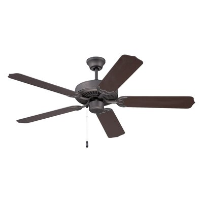 52 Southerland 5-Blade Ceiling Fan Finish: Espresso with Outdoor Brown ABS Blades