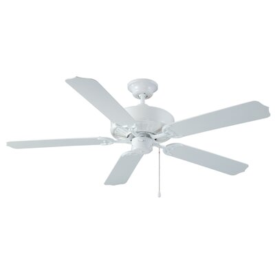52 Holly 5-Blade Ceiling Fan Finish: White with White Blades