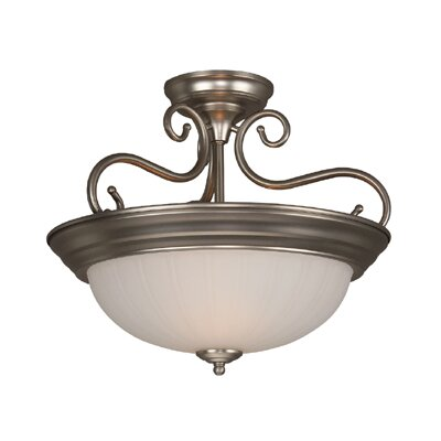 Holcomb 2-Light Semi Flush Mount Finish: Brushed Nickel