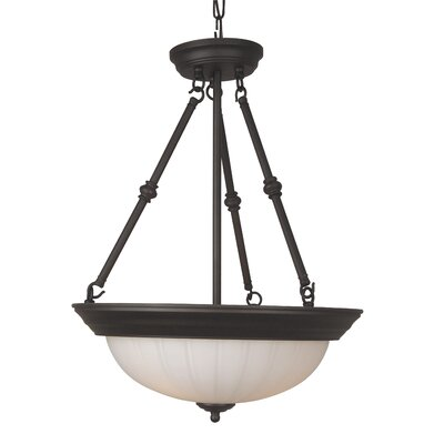 Holcomb 3-Light Inverted Pendant Finish: Oiled Bronze