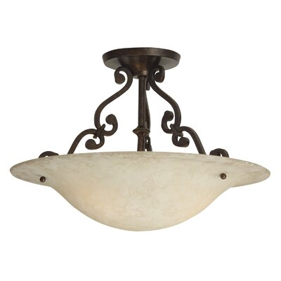 Whipkey 2-Light Semi Flush Mount Size: 9.5 H x 13 W x 13 D