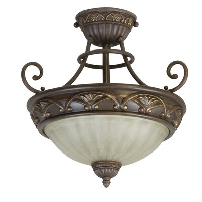 Snodgrass 2-Light Semi Flush Mount