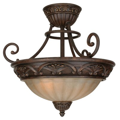 Snodgrass 3-Light Semi Flush Mount