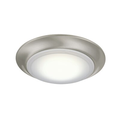 Nagesh LED Flush Mount Finish: Brushed Polished Nickel