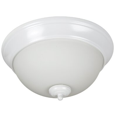 Byron 2-Light Bowl Flush Mount Shade Color: White, Finish: White