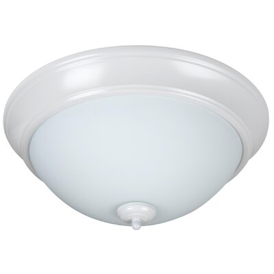 Byron 2-Light Flush Mount Finish: White, Shade Color: White