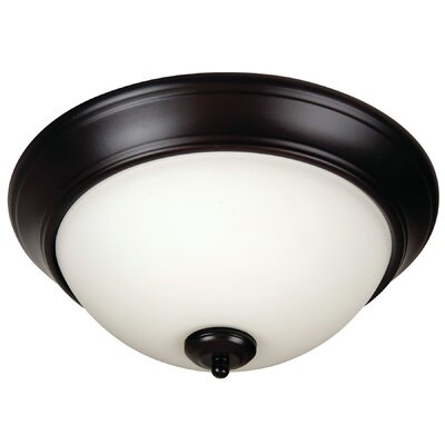 Byron 3-Light Flush Mount Finish: Oiled Bronze, Shade Color: White