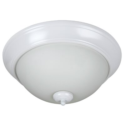 Byron 3-Light Flush Mount Finish: White, Shade Color: White
