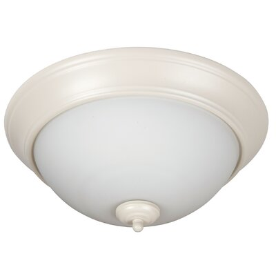 Byron 3-Light Flush Mount Finish: Antique White, Shade Color: White