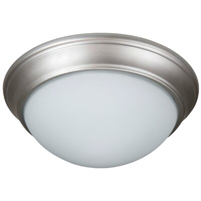 Berwyn 2-Light Bowl Flush Mount Finish: Brushed Satin Nickel, Shade Color: White