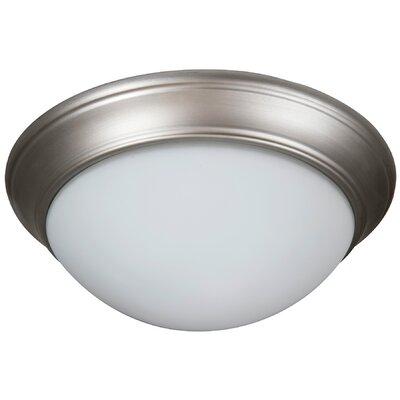 Berwyn 3-Light Flush Mount Shade Color: White, Finish: Brushed Satin Nickel