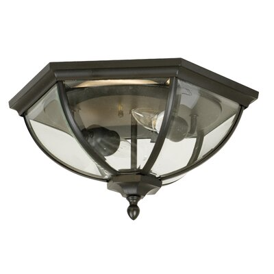 Oakhill Bronze 2-Light Flush Mount