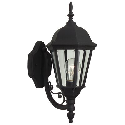 Oakhill Black 1-Light Outdoor Sconce