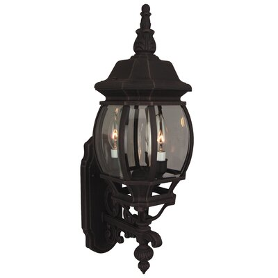 Oakhill Glass 3-Light Outdoor Sconce