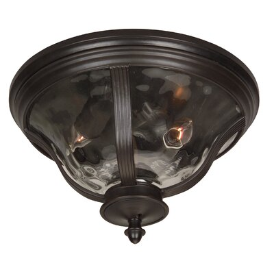 Oakhill Traditional 2-Light Flush Mount