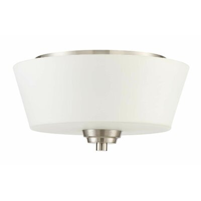 Colfax 2-Light Flush Mount Finish: Brushed Polished Nickel