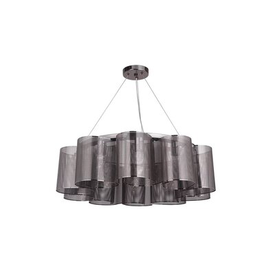 Paulette 10-Light Drum Chandelier Finish: Black Chrome