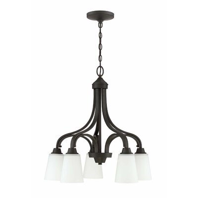 Colfax 5-Light Shaded Chandelier Finish: Espresso