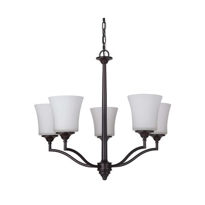 Farnborough 5-Light Shaded Chandelier Finish: Oiled Bronze