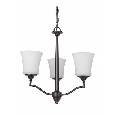 Farnborough 3-Light Shaded Chandelier Finish: Oiled Bronze