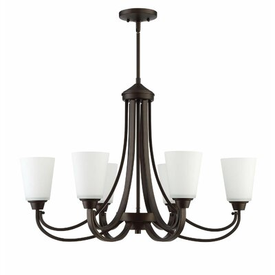 Colfax 6-Light Semi Flush Mount Finish: Espresso