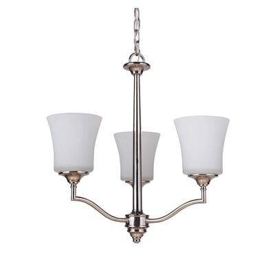 Farnborough 3-Light Shaded Chandelier Finish: Polished Nickel