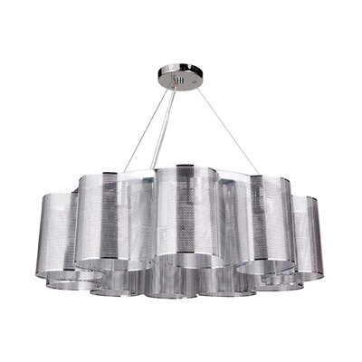 Paulette 10-Light Drum Chandelier Finish: Chrome