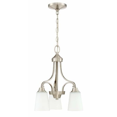 Grace 3-Light Mini Chandelier Finish: Brushed Polished Nickel
