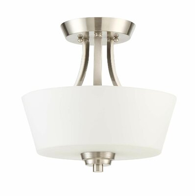 Grace 2-Light Convertible Semi Flush Mount Finish: Brushed Polished Nickel