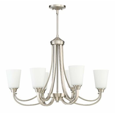 Colfax 6-Light Semi Flush Mount Finish: Brushed Polished Nickel