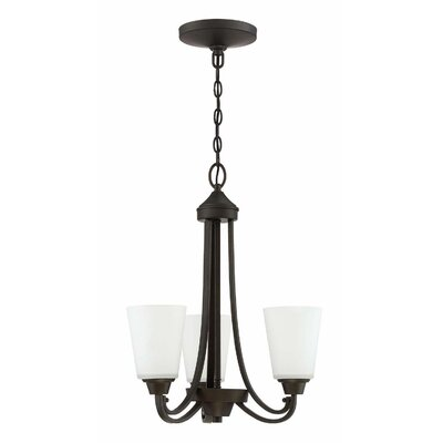 Colfax Dome Shade 3-Light Mini Chandelier Finish: Espresso