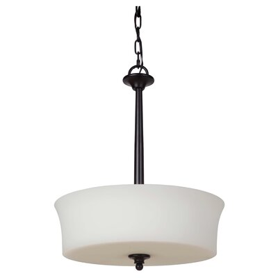 Farnborough 3-Light Bowl Pendant Finish: Oiled Bronze