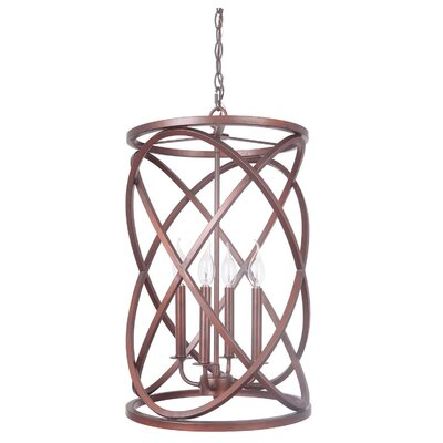 Birkenshaw 4-Light Foyer Pendant Finish: Peruvian Bronze