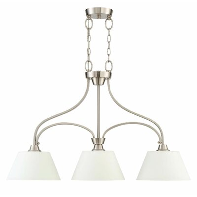 Colfax 3-Light Kitchen Island Pendant Finish: Brushed Polished Nickel