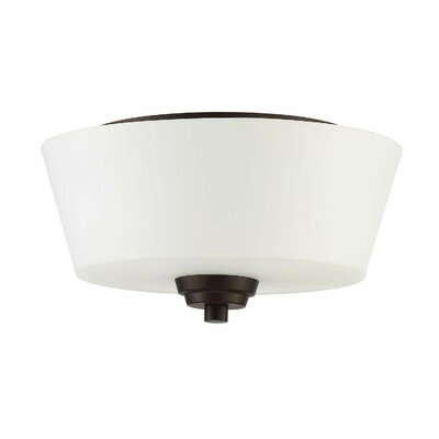 Colfax 2-Light Flush Mount Finish: Espresso