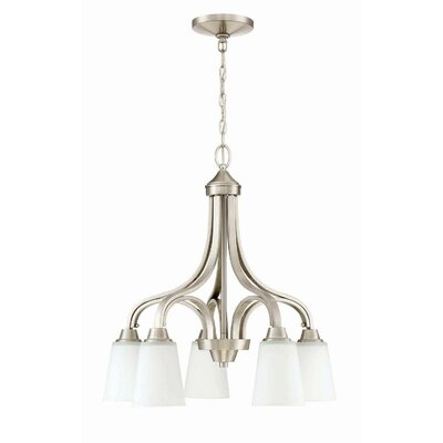 Colfax 5-Light Shaded Chandelier Finish: Brushed Polished Nickel