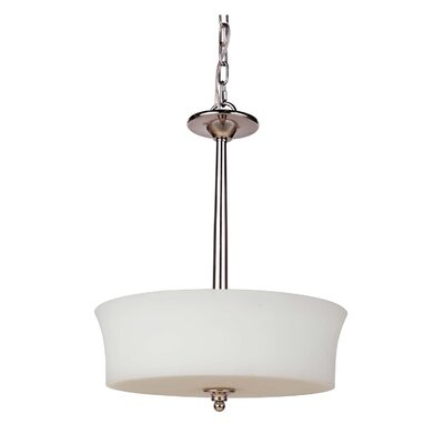 Farnborough 3-Light Bowl Pendant Finish: Polished Nickel