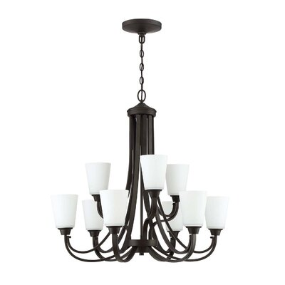 Colfax 9-Light Shaded Chandelier Finish: Espresso