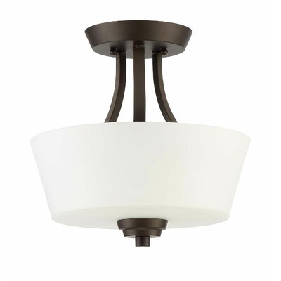 Colfax 2-Light Convertible Semi Flush Mount Finish: Espresso