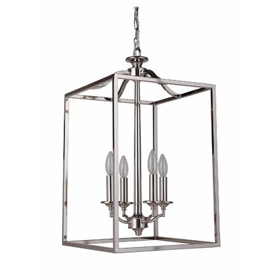 Farnborough 4-Light Foyer Pendant Finish: Polished Nickel