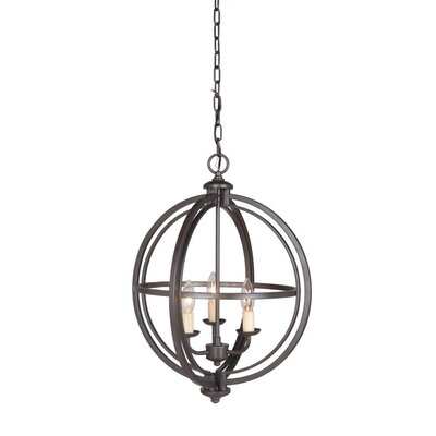 Berkeley 3-Light Foyer Pendant Finish: Chrome