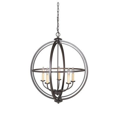 Berkeley 5-Light Foyer Pendant Finish: Espresso