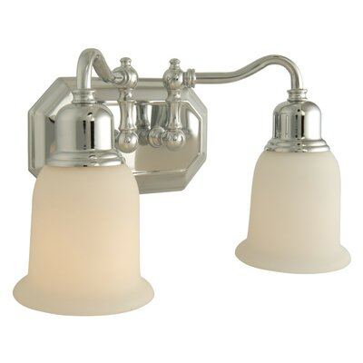 Heritage 2-Light Vanity Light Finish: Chrome