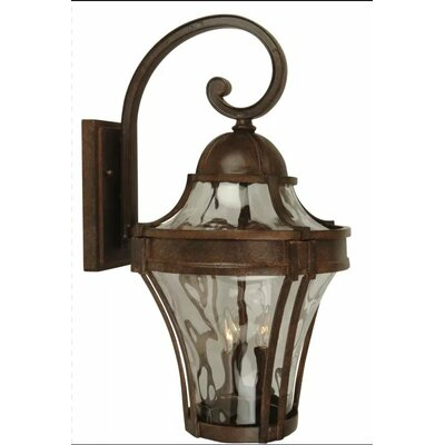 Parish 1-Light Outdoor Wall Lantern Finish: Aged Bronze