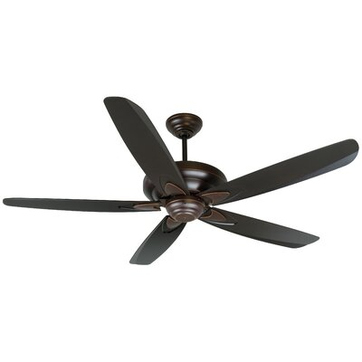 56 Jerome 5-Blade Ceiling Fan Finish: Oiled Bronze Gilded