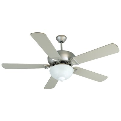 52 Duquesne 5-Blade Ceiling Fan Fan Finish: Brushed Nickel