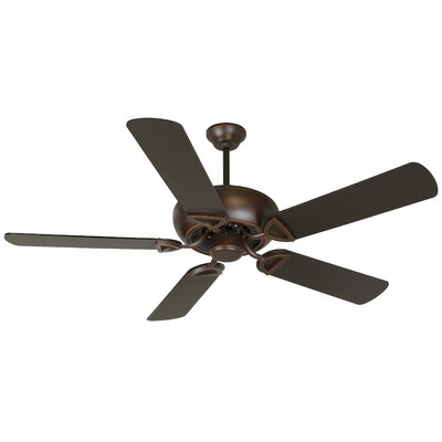 52 Duquesne 5-Blade Reversible Ceiling Fan Fan Finish: Oiled Bronze Gilded
