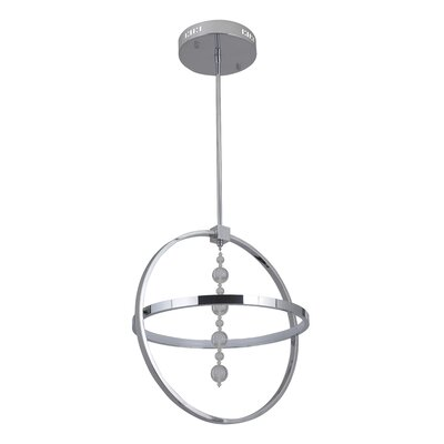 Corinna 1 Ring 1-Light LED Globe Pendant