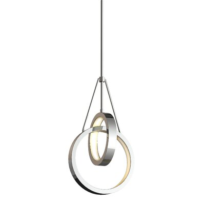 Corinna 2 Ring 2-Light LED Geometric Pendant